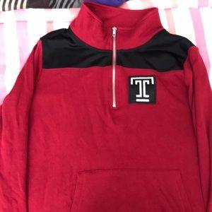 Temple University pink sweatshirt